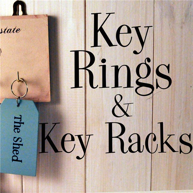 Order KEY RINGS  & KEY RACKS