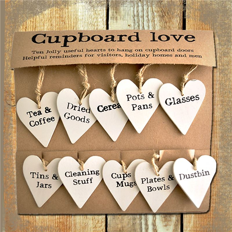 Order Cupboard Love Door Heart Labels SPECIAL OFFER