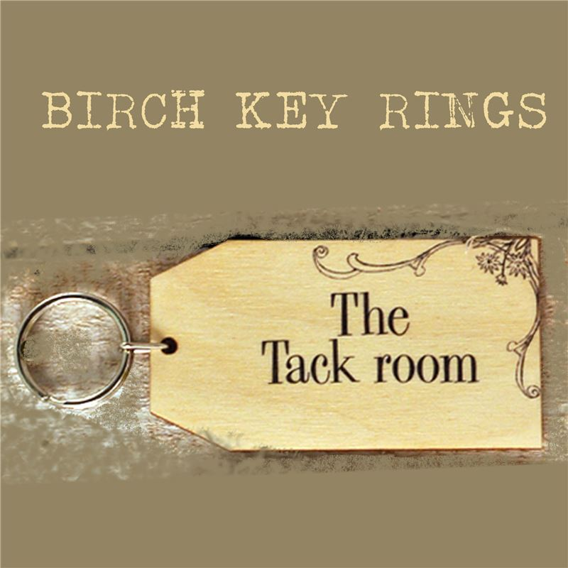 Order Birch Key Ring: The Tack Room