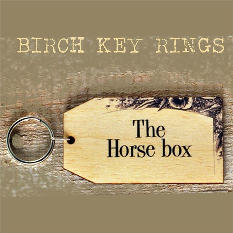 Order Birch Key Ring: The Horse Box