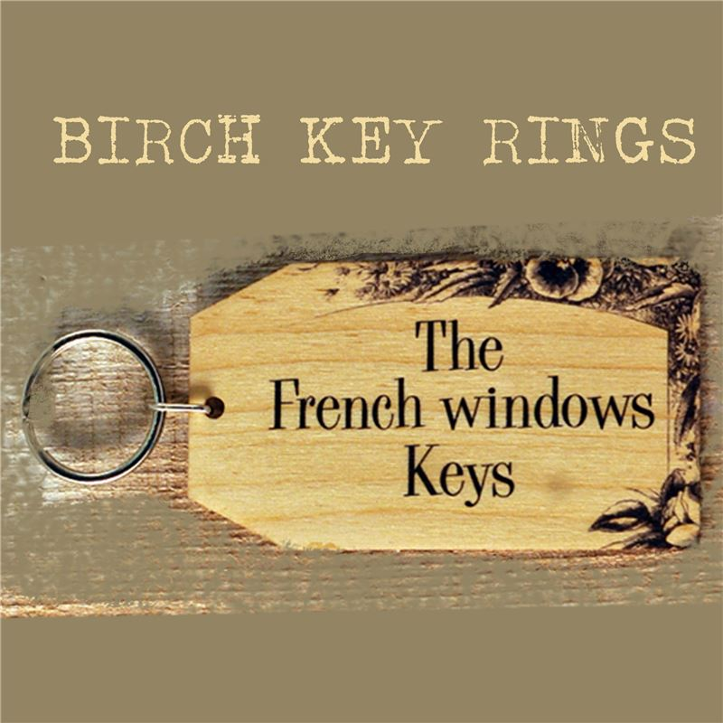Order Birch Key Ring: The French Windows Keys
