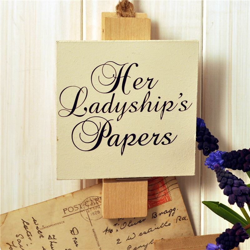 Order Wooden Peg: Her Ladyship's Papers