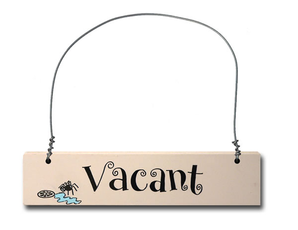 Order Hand Painted Wooden Door Sign:  Vacant/Engaged