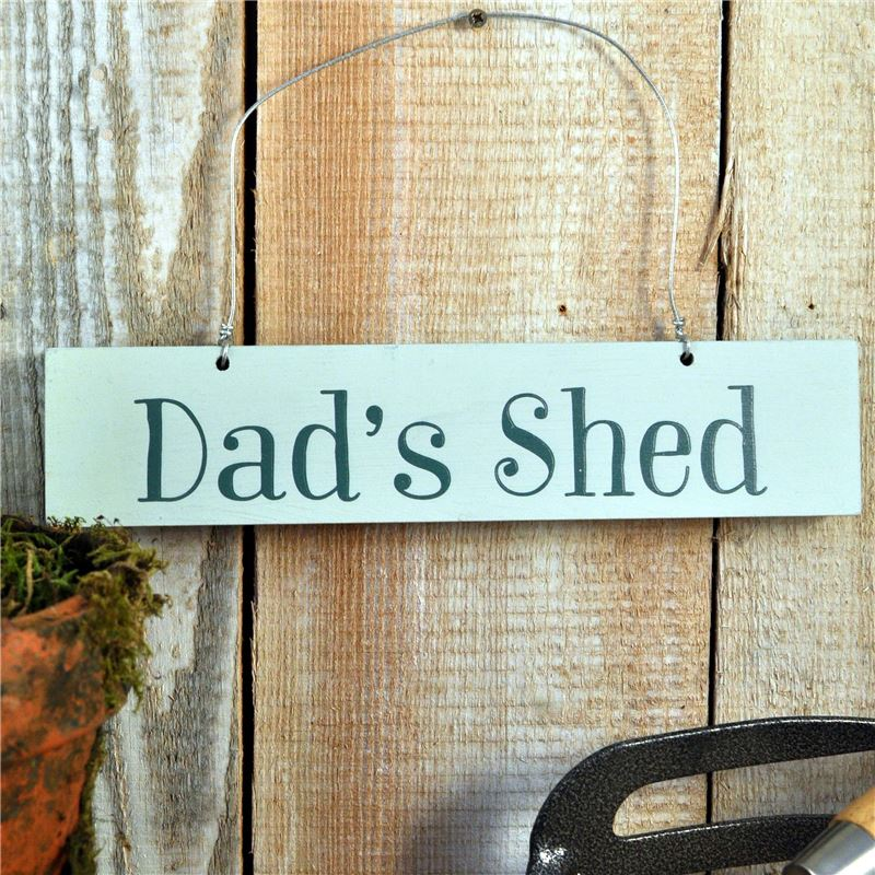 Order Hand Painted Wooden Sign:  Dad's Shed