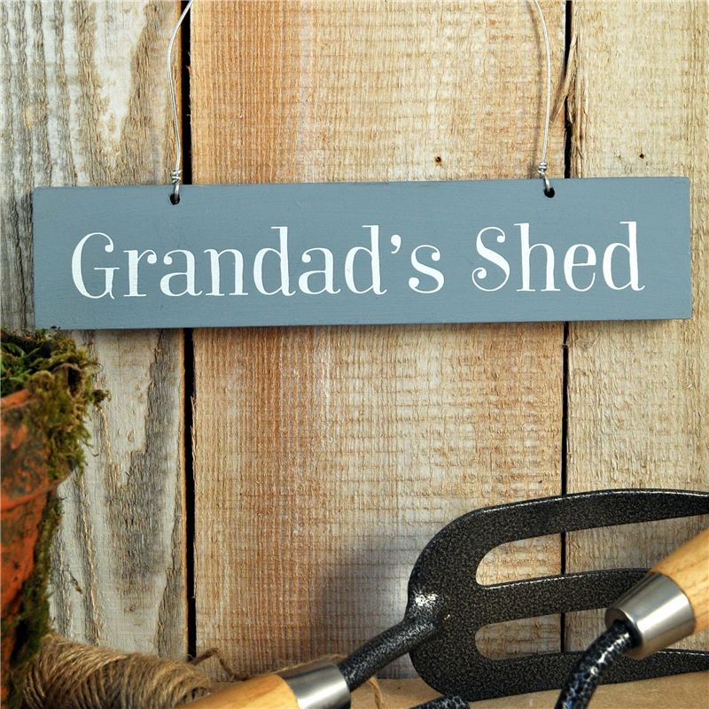 Order Hand Painted Wooden Sign Grandad's Shed