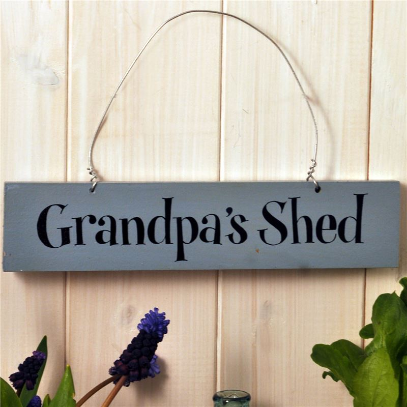 Order Hand Painted Wooden Sign:  Grandpa's Shed