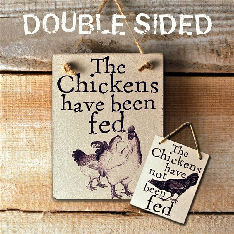 Order Double Sided The Chickens Have Been Fed - (etch)