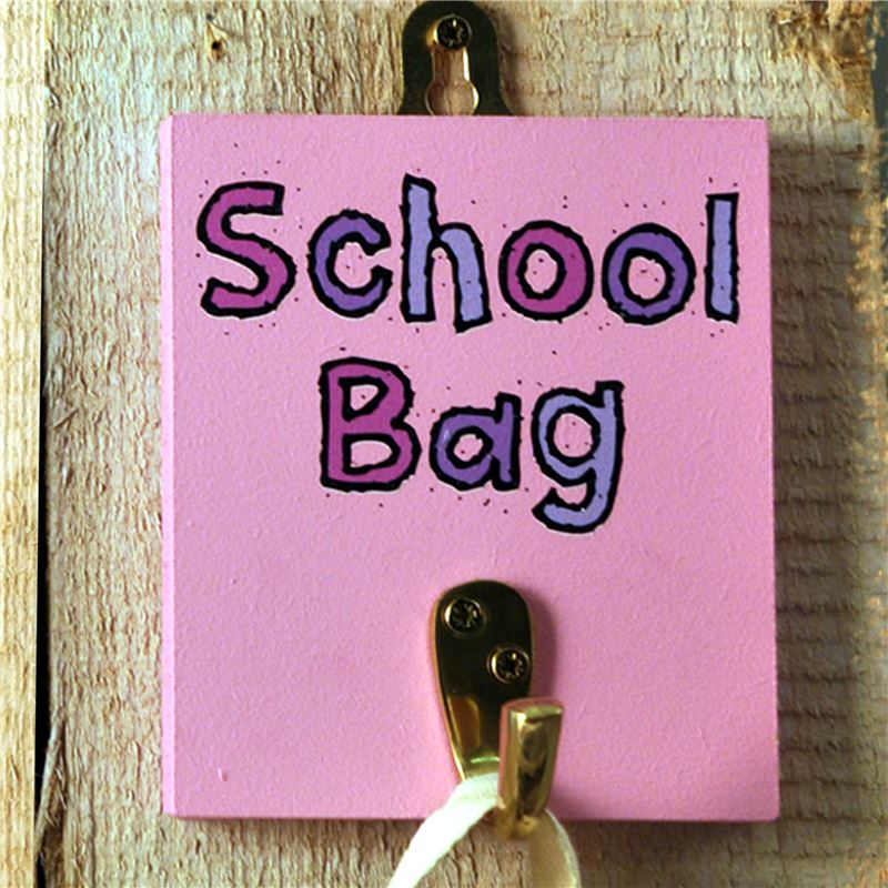 Order Hooks -School Bag Hook Pastel Colours