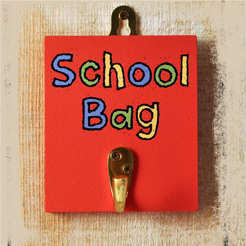 Order Hooks -School Bag Hook Primary Colours