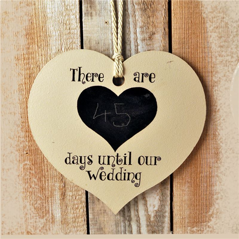 Order Days to wedding chalk board