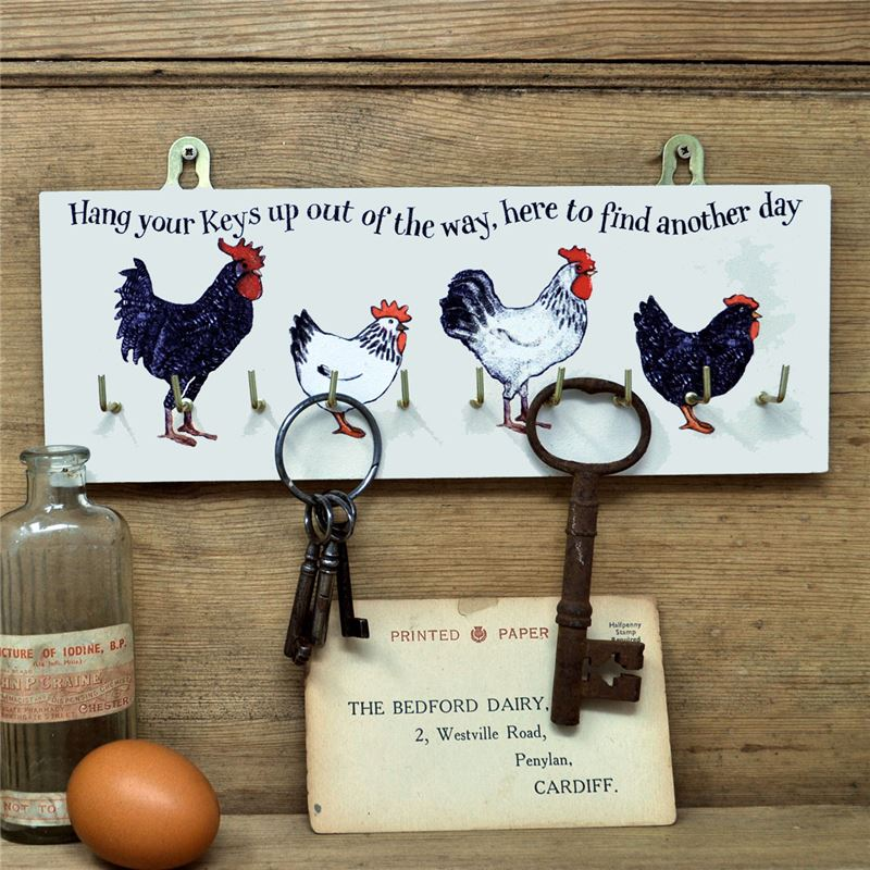 Order Wooden Key Rack:  Breeds of hens