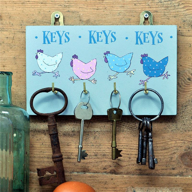 Order  Hetty Hen Key 4 hook key rack