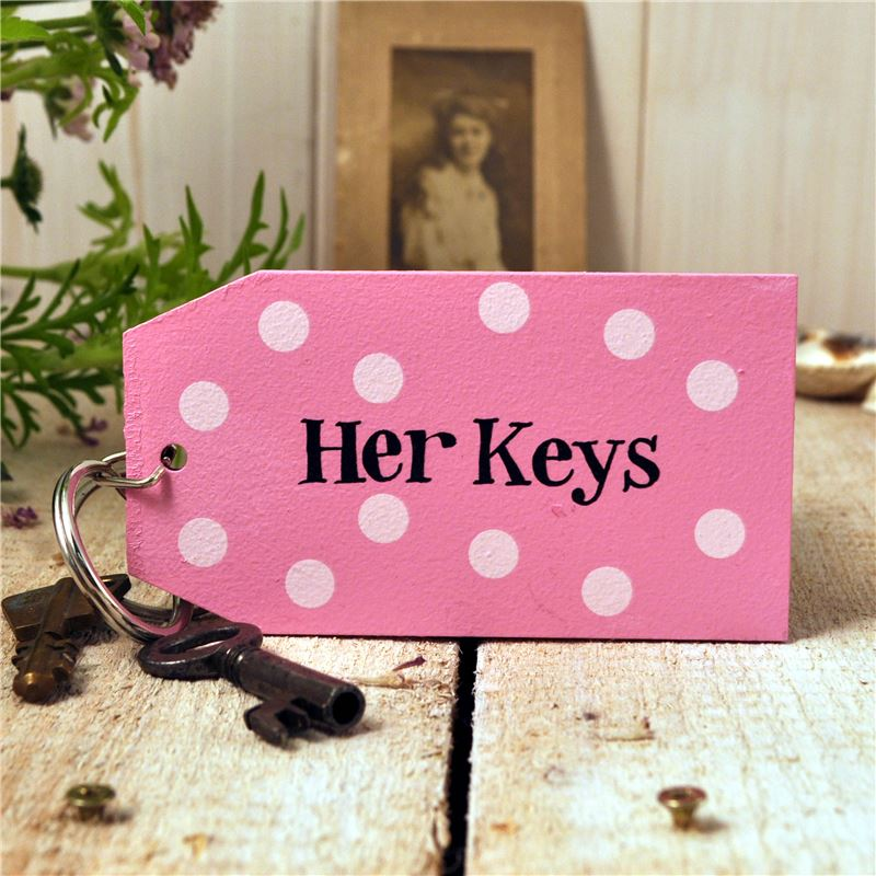 Order Wooden Key Ring:  Her Keys