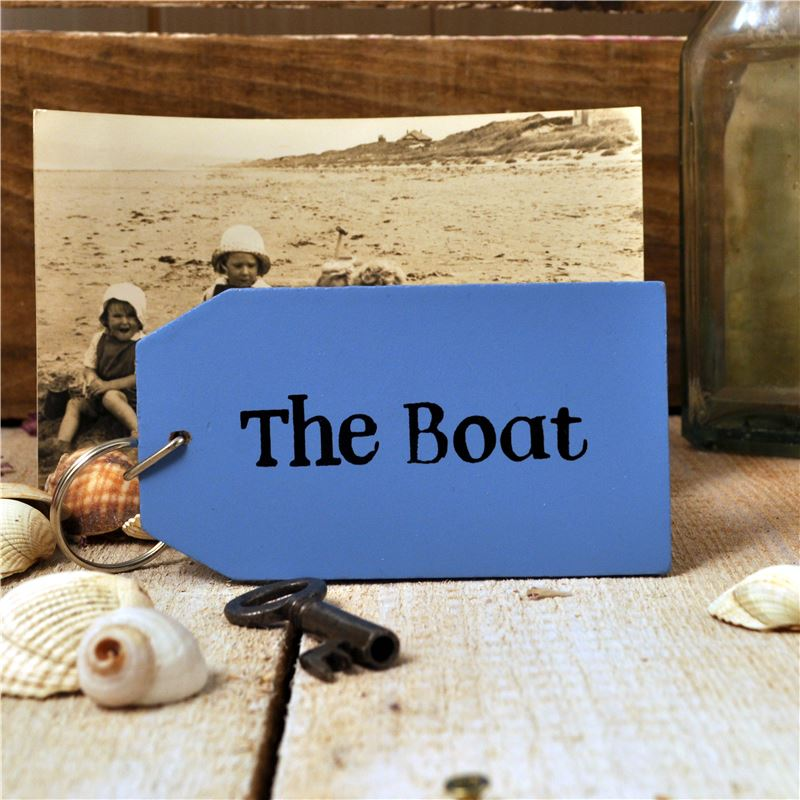 Order Wooden Key Ring:  The Boat
