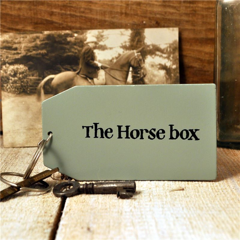 Order Wooden Key Ring: The Horse Box
