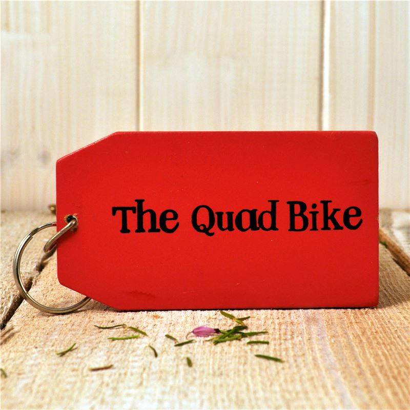 Order Wooden Key Ring:  The Quad Bike