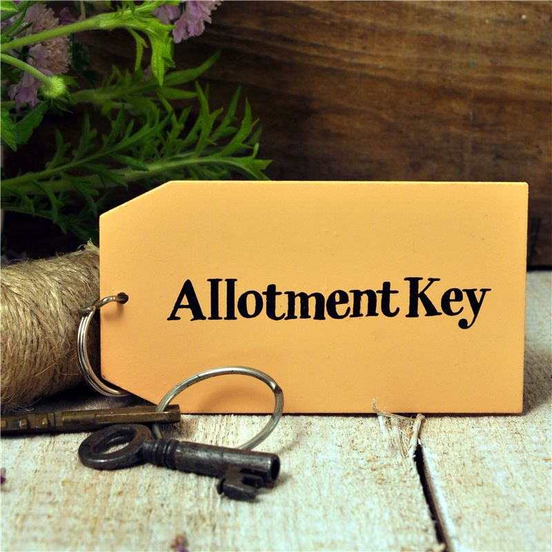 Order Wooden Key Ring:  Allotment Key