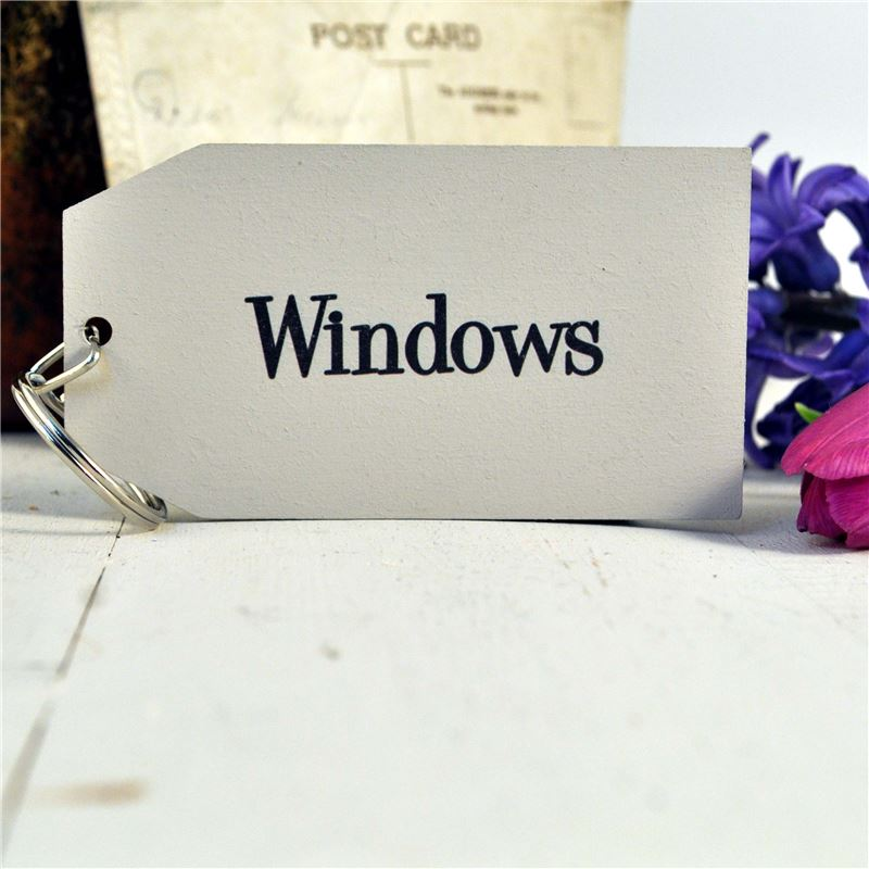 Order  Wooden Key Ring:  Windows