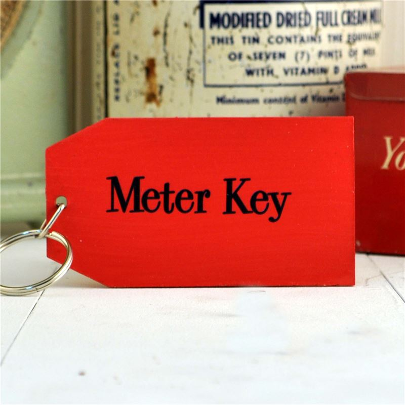 Order Wooden Key Ring:  Meter Key