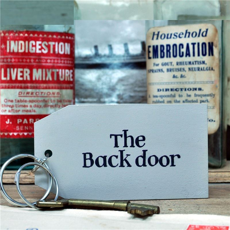 Order Wooden Key Ring:  The Back Door