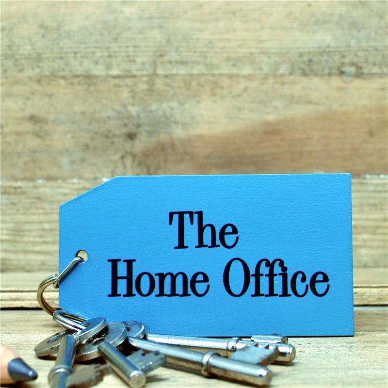 Order Hand painted key ring :  The Home Office