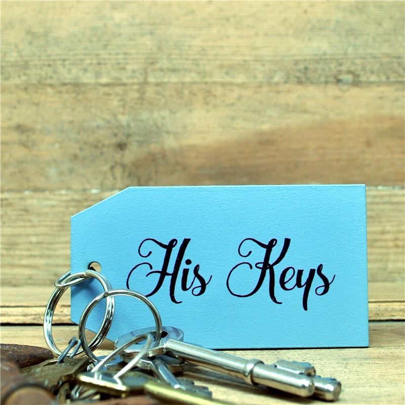 Order Wooden Key Ring: His Keys