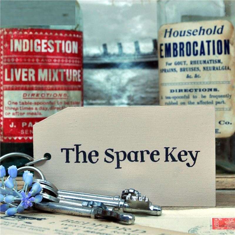 Order Wooden Key Ring:  The Spare Key