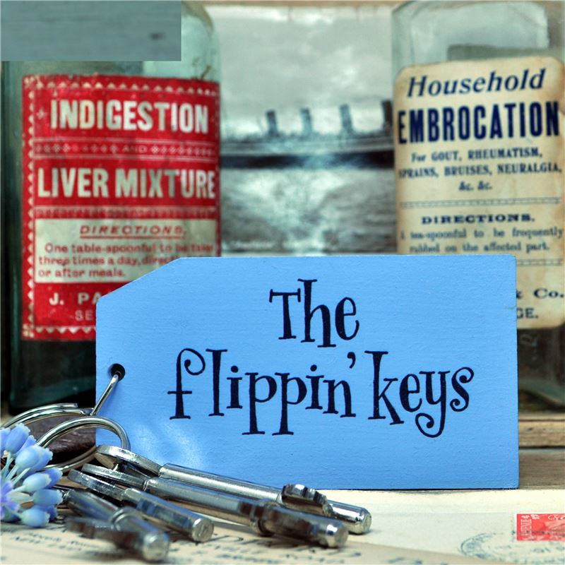 Order Wooden Key Ring:  The Flippin' Keys