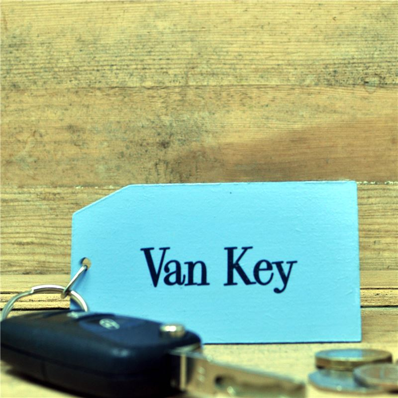 Order Wooden Key Ring:  Van Key