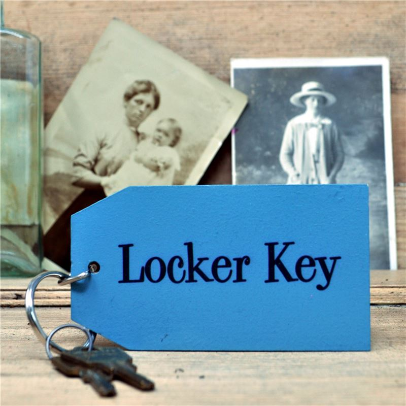 Order Wooden Key Ring:  Locker Key