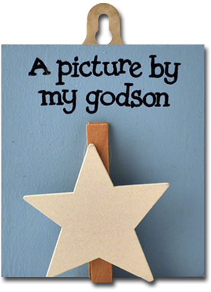 Order God son peg (blue, white star)