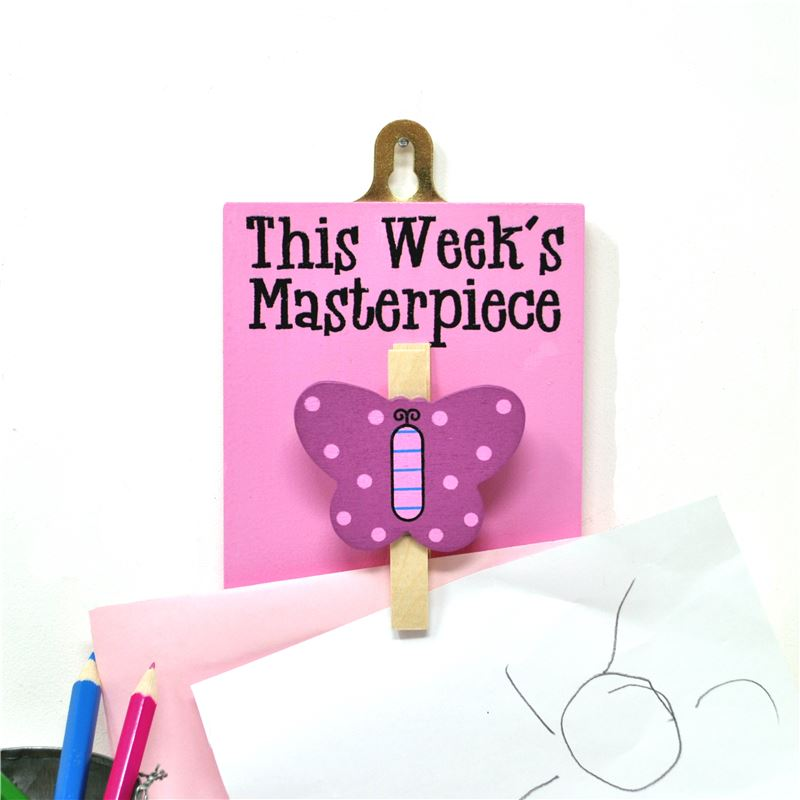 Order Hand Painted Wooden Peg:  This week's masterpiece (butterfly)