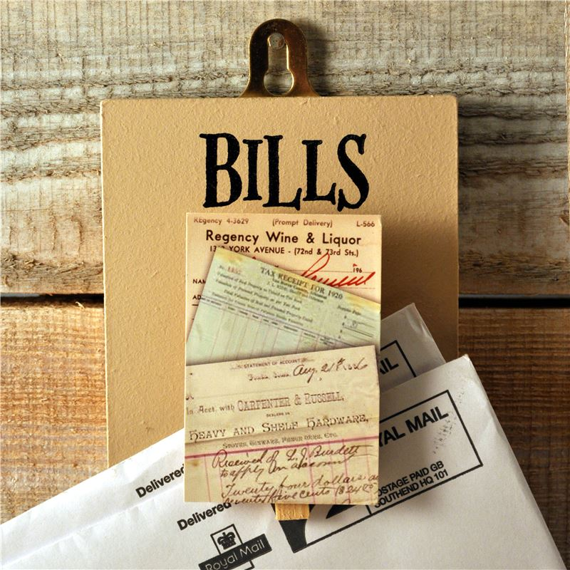 Order Peg Up Your Papers - Bills