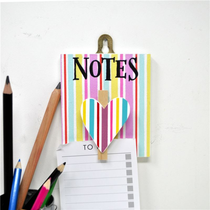 Order Hand Painted Wooden Peg: Pretty Jolly Notes