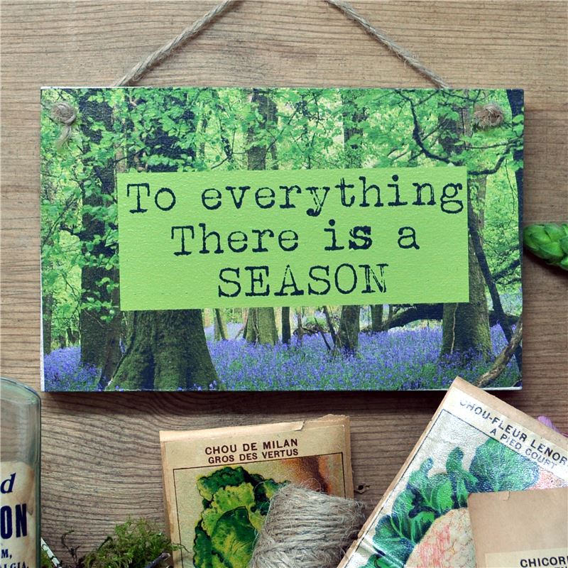 Order To Everything There is a Season