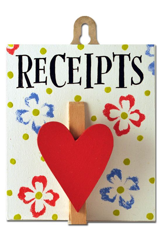 Order Receipts (Posy Pegs)