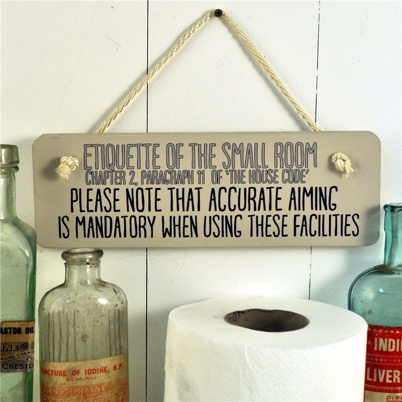 Order Accurate aiming ,Etiquette of the small room