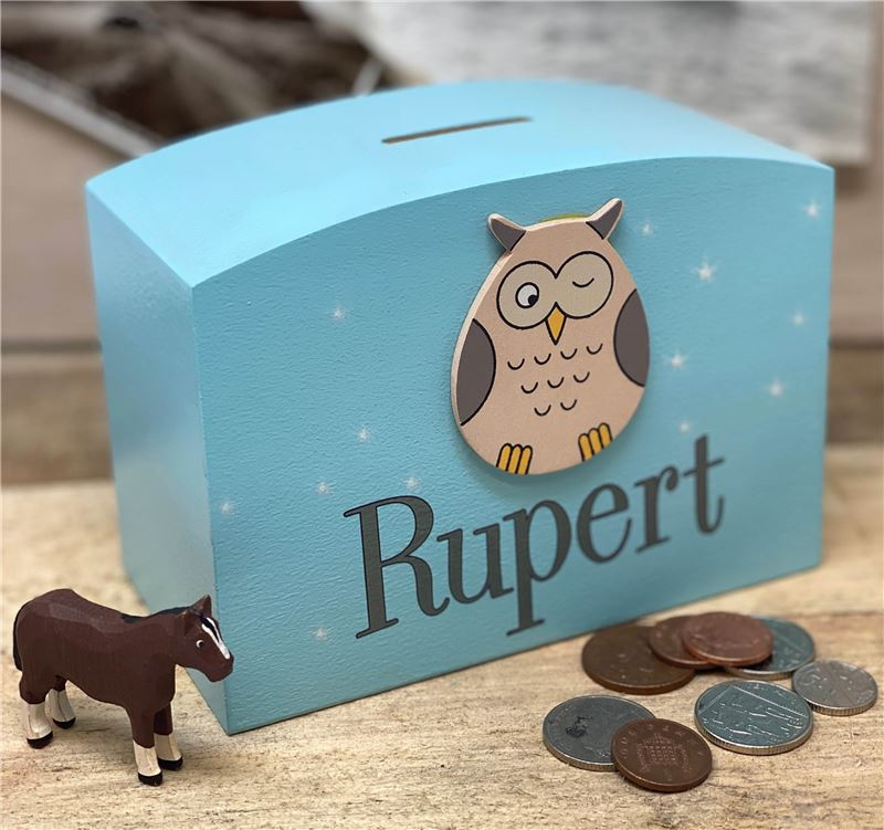 Order Personalised Owl Money box