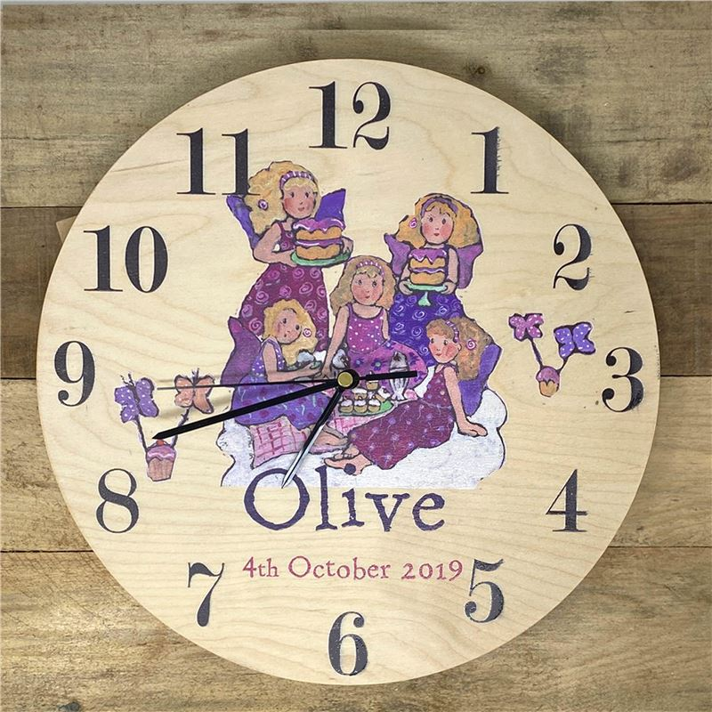 Order Personalised Fairy Clock