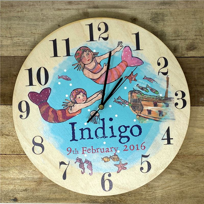 Order Personalised Mermaid Clock