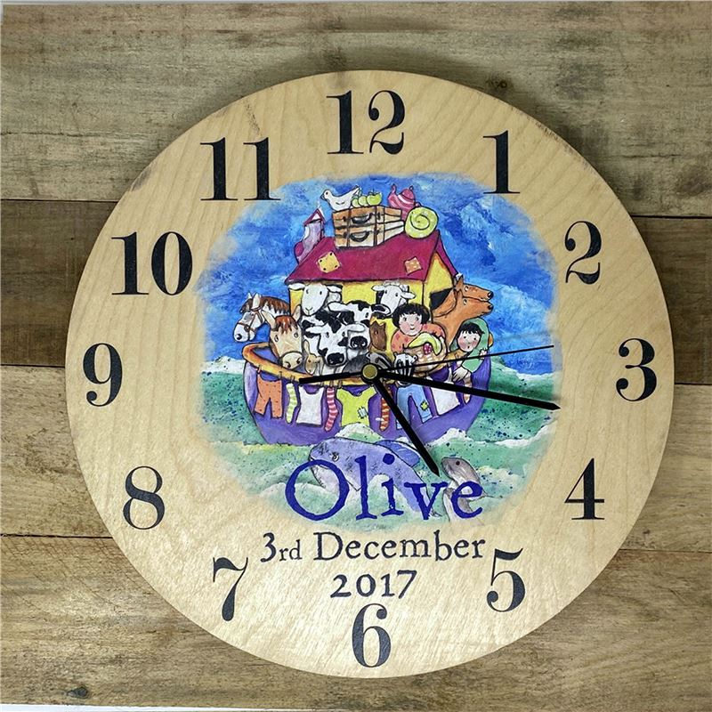 Order Personalised Noah's Ark Clock