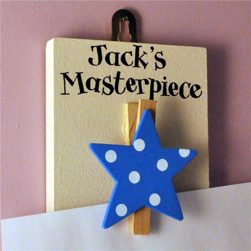 Order  Blue star Peg to hold your little Star's Artwork