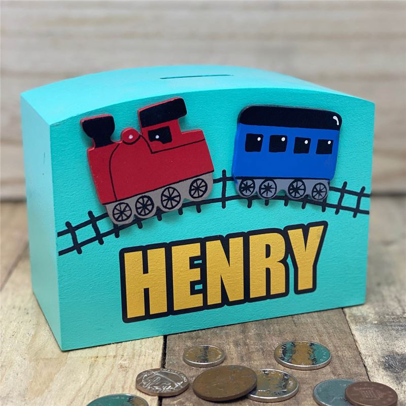 Order Personalised Train money box