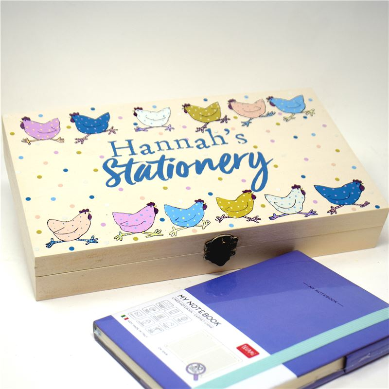 Order Personalised Stationary Box - Chicken Design