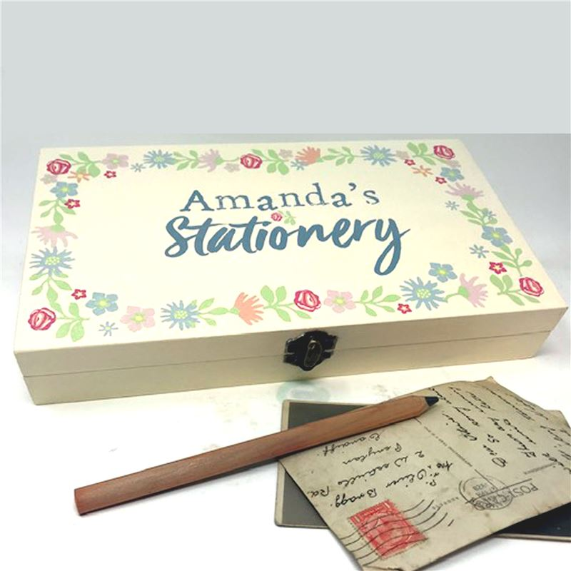 Order Personalise Stationary Box - Blodwen Design