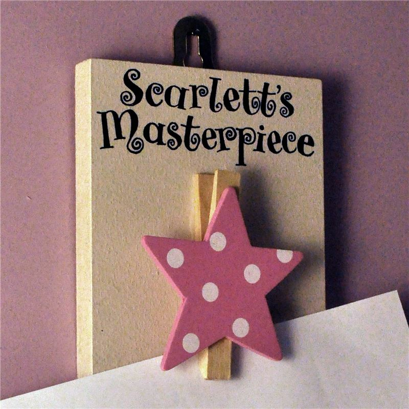 Order Personalised Masterpiece Hand Painted Peg (pink spotty star)