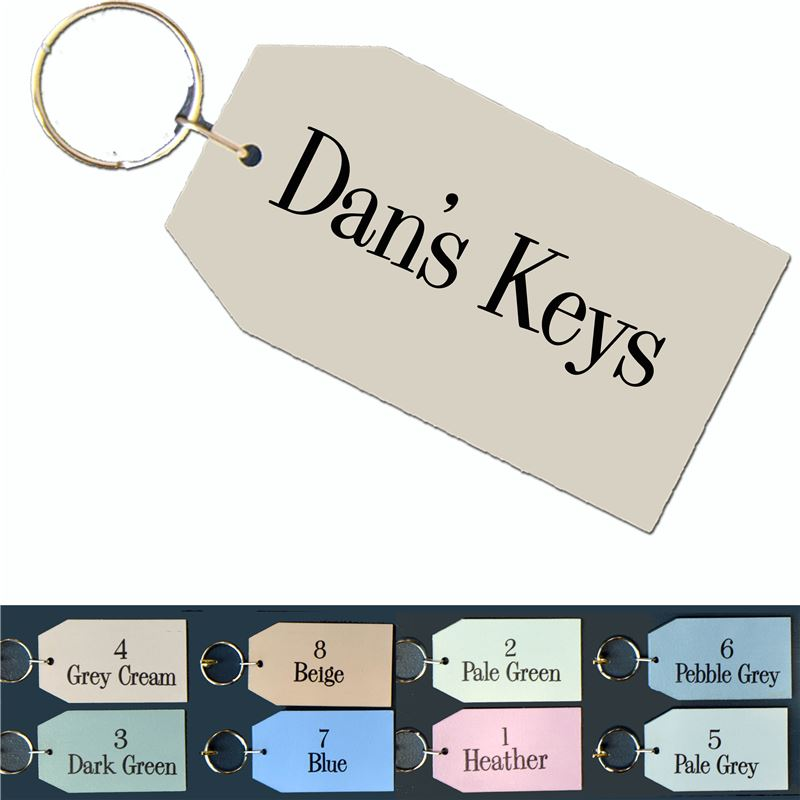 Order Personalised Wooden Key Ring