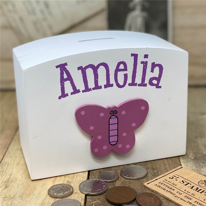 Order Personalised Butterfly money box