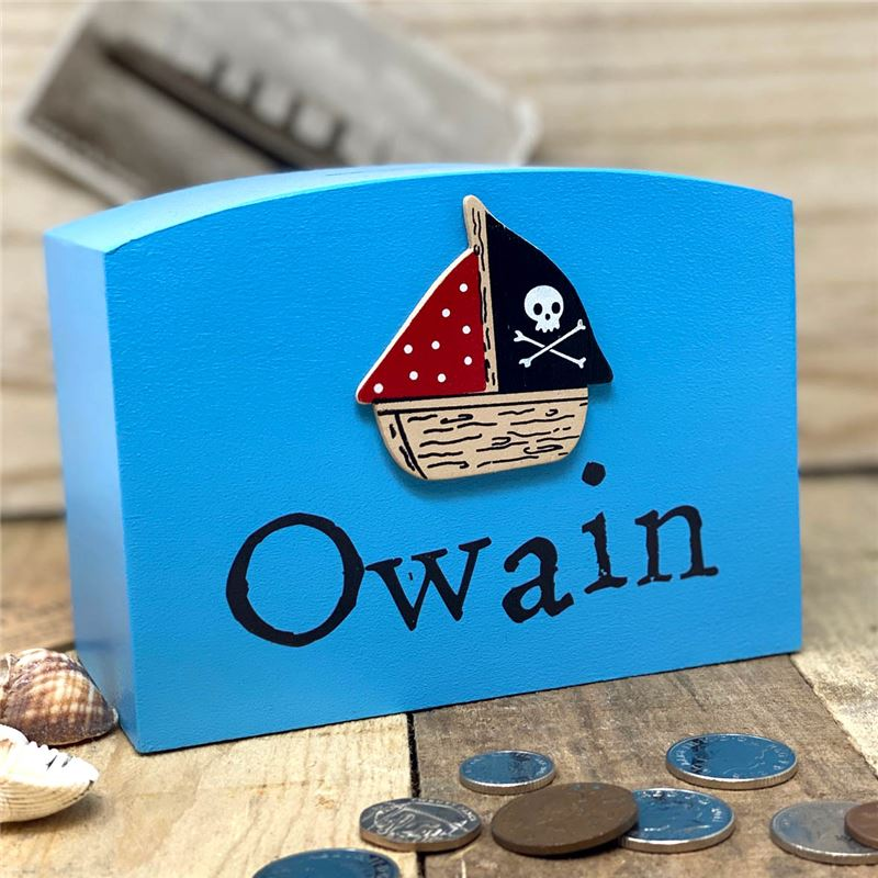 Order Pirate ship personalised money box