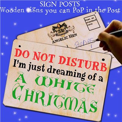 Sign Posts - Dreaming of a White Christmas